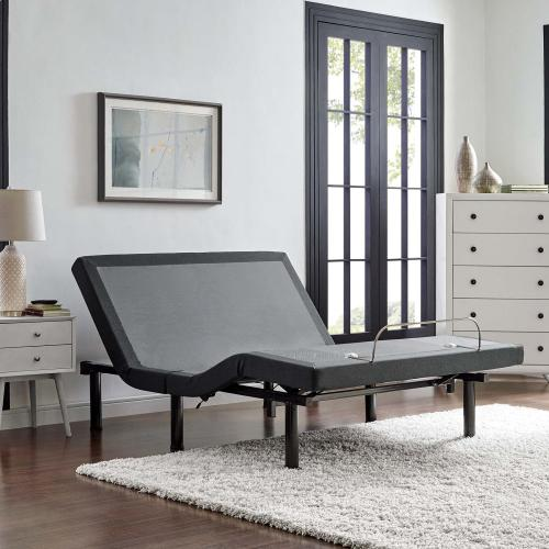 Transform Adjustable Queen Wireless Remote Bed Base in Gray
