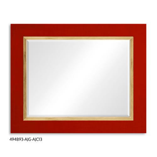 """Homespun"" mirror (Lipstick/Gold)"