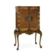 Queen Anne Walnut & Satinwood Writing Cabinet