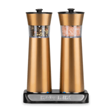 Product Image - Kalorik Rechargeable Gravity Salt and Pepper Grinder Set, Copper