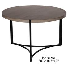 View Product - Stratus Metal and Wood Tri Leg Round Cocktail Table