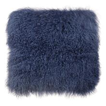 Tibetan Sheep Large Blue Pillow