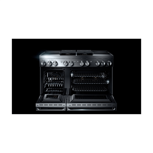 "NOIR™ 48"" Dual-Fuel Professional Range with Dual Chrome-Infused Griddles"