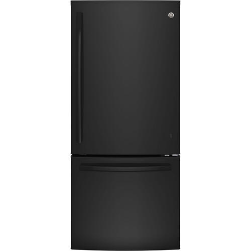 GE 20.9 cu.ft. Bottom Freezer Refrigerator Black GBE21AGKBB