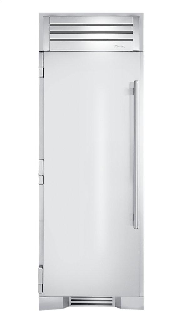 30 Inch Solid Stainless Door Left Hinge Freezer Column