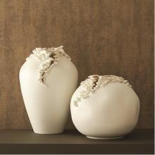Cascading Reef Vase-White-Short
