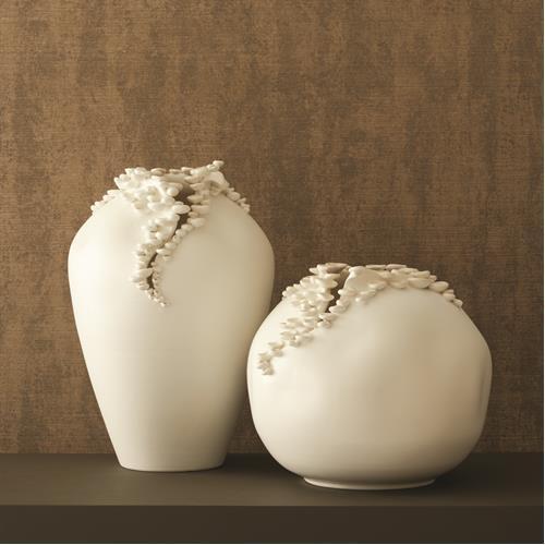 Cascading Reef Vase-White-Tall