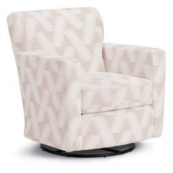 CAROLY Swivel Barrel Chair