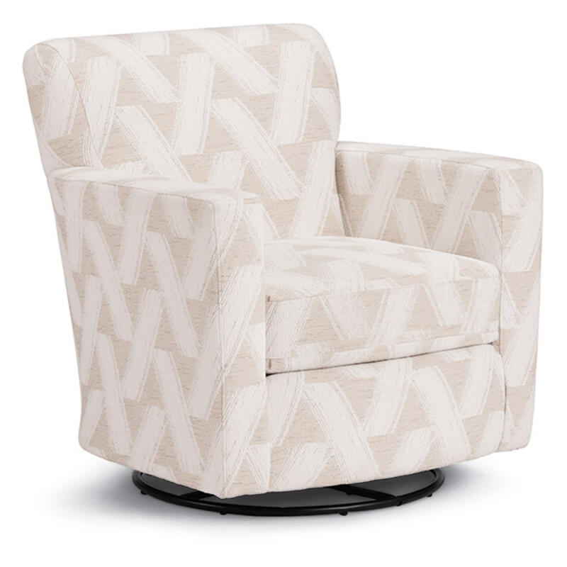 CAROLY Swivel Barrel Chair