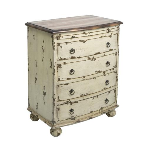 White Distressed Two Tone Drawer Chest