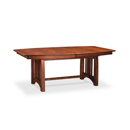 "Aspen Trestle Table with Inlay, 48"" x 80"", 4-Leaves, SATE-60, Cherry #26 Michael's, 4 Leaf"