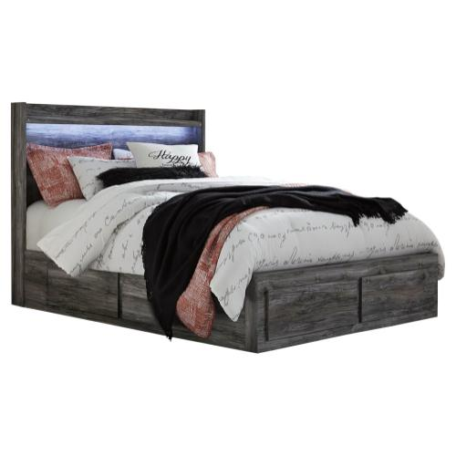 Baystorm Queen Panel Bed With 6 Storage Drawers