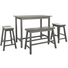 See Details - Hailey 4 PC Set Pub Table - Grey