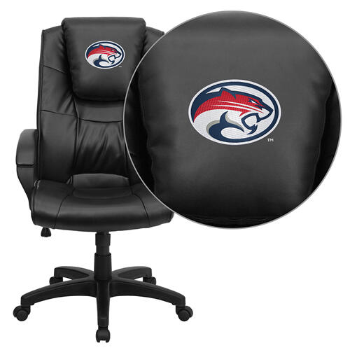 Houston Cougars Embroidered Black Leather Executive Office Chair