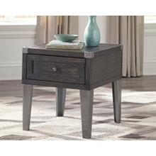 Todoe Rectangular End Table Dark Gray