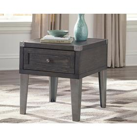 Todoe Rectangular End Table Dark Gray