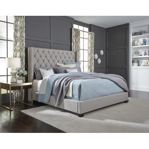 Westerly King Bed, Light Grey