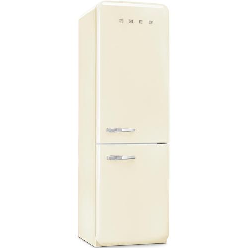 Smeg 50's Retro Style Refrigerator with Bottom Freezer Right Hinge Cream 24-Inch