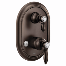 Weymouth oil rubbed bronze m-core 3-series with integrated transfer valve trim