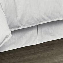 Tailored White Linen Bed Skirt - King