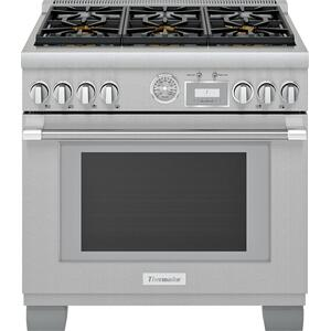 ThermadorDual Fuel Professional Range 36'' Pro Grand® Commercial Depth Stainless Steel PRD366WGU