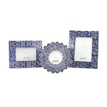Lucenda Blue and White Ceramic Frames - Set of 3