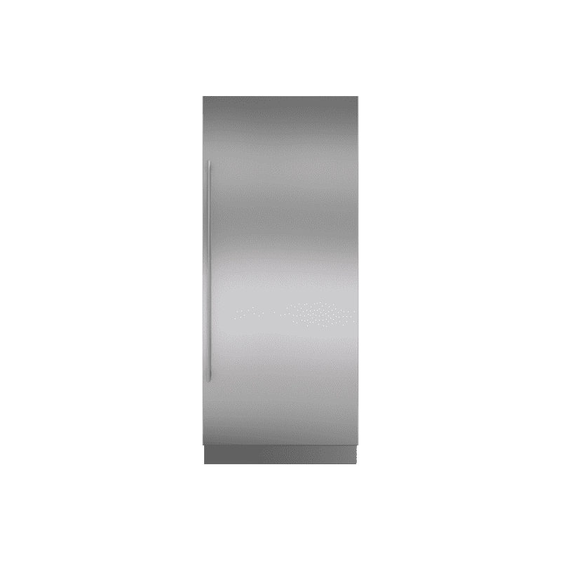 """Integrated Stainless Steel 36"""" Column Door Panel with Tubular Handle - Right Hinge"""