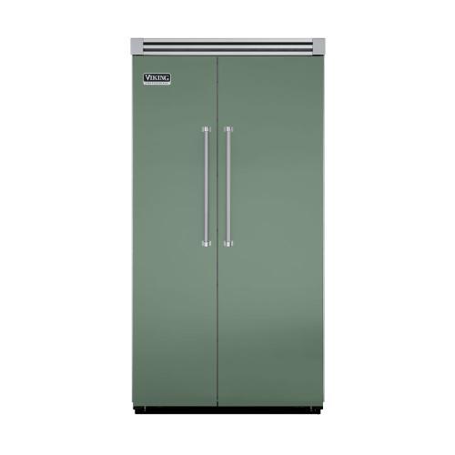 "Viking - Mint Julep 42"" Side-by-Side Refrigerator/Freezer - VISB (Integrated Installation)"