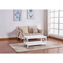 See Details - 6602 White Coffee Table