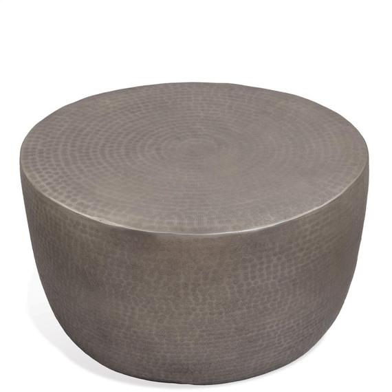 Riverside - Drum Coffee Table - Antique Pewter Finish
