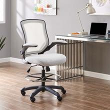 See Details - Veer Drafting Chair in Gray