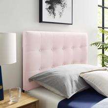Emily Twin Biscuit Tufted Performance Velvet Headboard in Pink