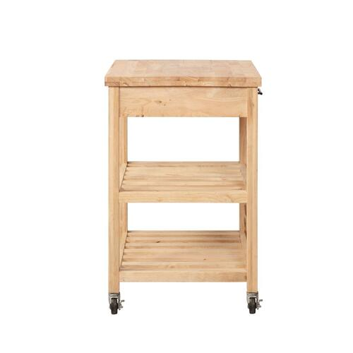 2-shelf and 1-drawer Kitchen Cart, Natural