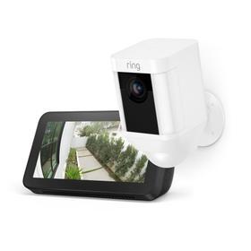 Spotlight Cam Battery with Echo Show 5 - White