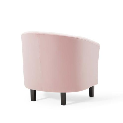 Prospect Performance Velvet Armchair in Pink