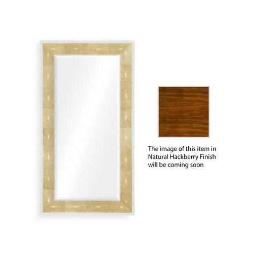 Ivory shagreen floor mirror