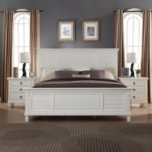 Regitina 016 White QUEEN & KING Size Bed, Queen