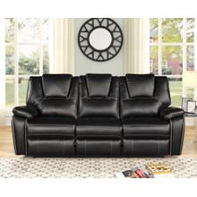 8087 BLACK Power Recliner Air Leather Sofa
