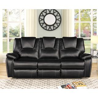 See Details - 8087 BLACK Power Recliner Air Leather Sofa