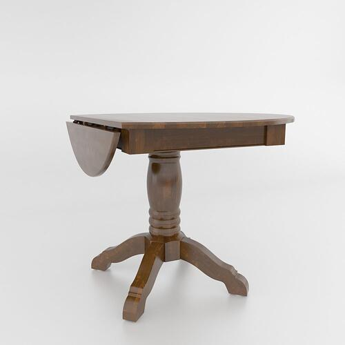 Drop leaf table with pedestal