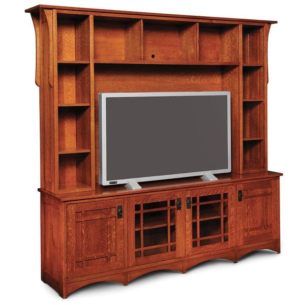 See Details - Prairie Mission Deluxe Entertainment Center, Base Only