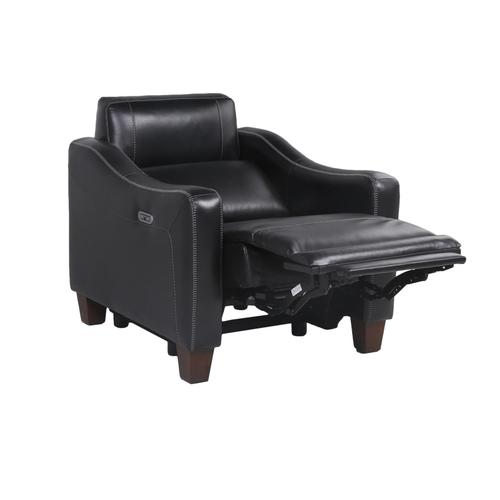 Giorno Dual-Power Leather Recliner, Midnight