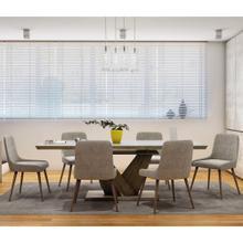Eclipse/Mia 7pc Dining Set, Oak/Grey & Light Grey