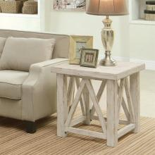 Product Image - Aberdeen - Side Table - Weathered Worn White Finish