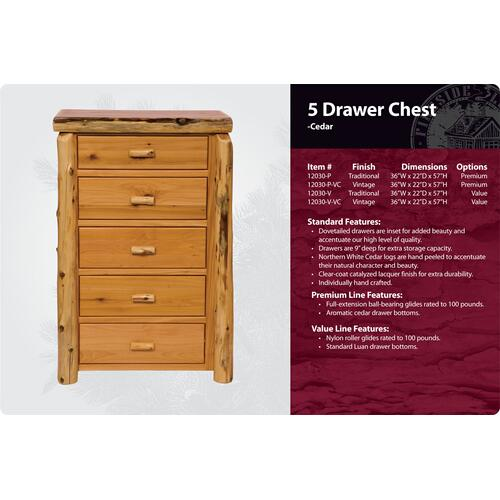 5 Drawer Chest -Traditional