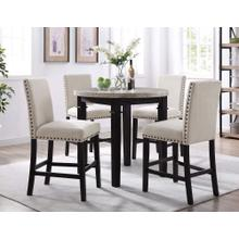 See Details - Greystone Counter Dining Set - Counter Table and 4 Barstools