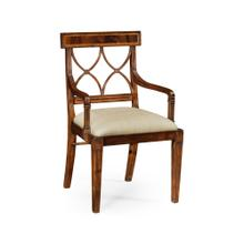 Regency Mahogany Curved Back Arm Chair