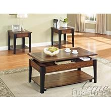 See Details - Magus Brown Oak & Black Finish Occasional Table Set