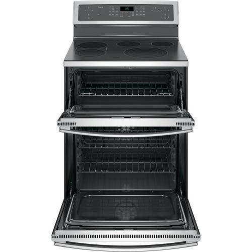 """GE Appliances Canada - GE Profile 30"""" Electric Freestanding Double Oven Convection Range Stainless Steel - PB960SJSS"""