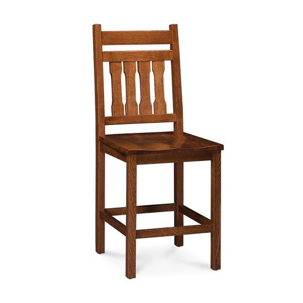 """See Details - Franklin Stationary Barstool, 30"""" Seat Height / Fabric Cushion Seat"""